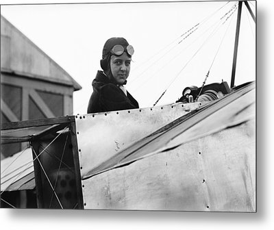 Bernetta Miller, Us Aviator Metal Print by Science Photo Library