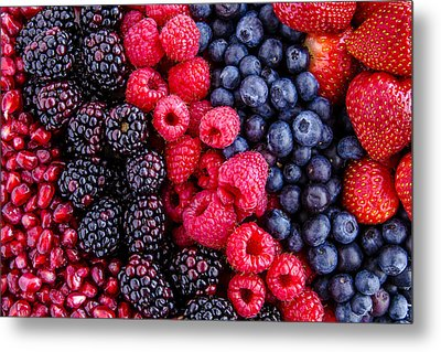 Berry Delicious Metal Print by Teri Virbickis
