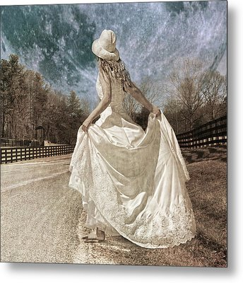 Beside Myself The Moon Metal Print by Betsy C Knapp