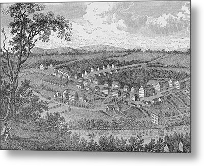 Bethlehem, A Moravian Settlement In Pennsylvania, From The Pageant Of America Metal Print by American School