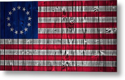 Betsy Ross American Flag Barn Metal Print by Dan Sproul