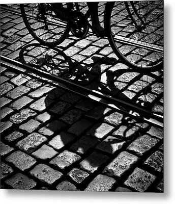 Between The Lines Metal Print by Dave Bowman