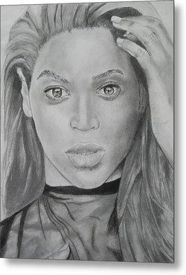 Beyonce Metal Print by Aaron Balderas
