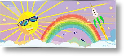 Beyond The Rainbow Metal Print by J L Meadows