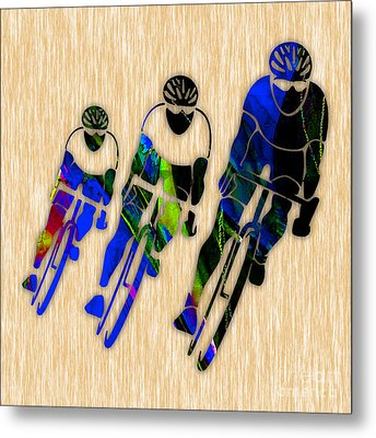 Bicycle Painting Metal Print by Marvin Blaine