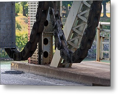 Big Chain Metal Print by Cyryn Fyrcyd
