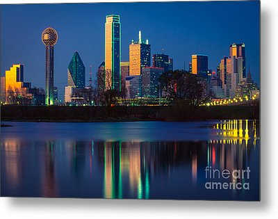 Big D Reflection Metal Print by Inge Johnsson