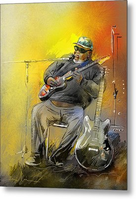 Big Jerry In Memphis Metal Print by Miki De Goodaboom