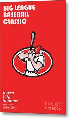 Big League Baseball Classic Poster  Metal Print by Aloysius Patrimonio