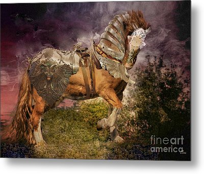 Big Max Dressed And Ready For Battle Metal Print by Wobblymol Davis