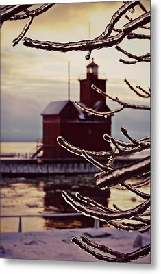 Big Red Ice Metal Print by Dawdy Imagery