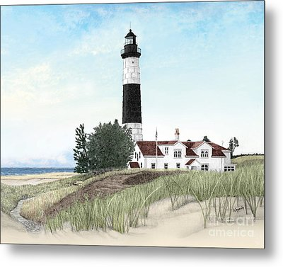 Big Sable Point Lighthouse Metal Print by Darren Kopecky