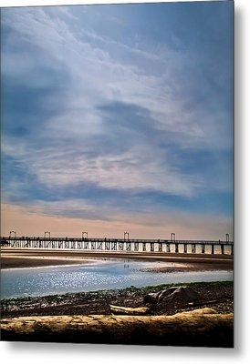 Big Skies Over The Pier Metal Print by Eva Kondzialkiewicz