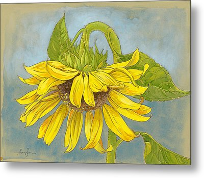 Big Sunflower Metal Print by Tracie Thompson