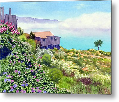 Big Sur Cottage Metal Print by Mary Helmreich