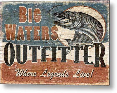 Big Waters Outfitters Metal Print by JQ Licensing