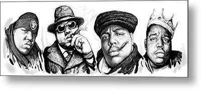 Biggie Smalls Art Drawing Poster Metal Print by Kim Wang