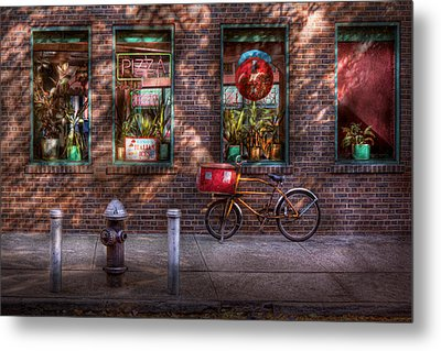 Bike - Ny - Chelsea - The Delivery Bike Metal Print by Mike Savad