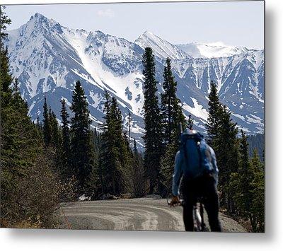 Biking Denali Style Metal Print by Tara Lynn