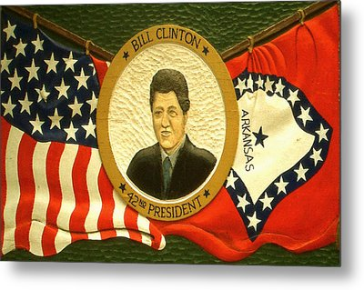 Bill Clinton 42nd American President - Poster Art Metal Print by Art America Online Gallery