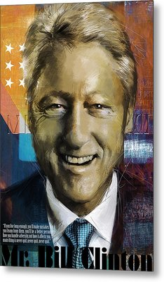Bill Clinton Metal Print by Corporate Art Task Force