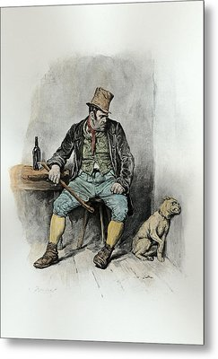 Bill Sykes And His Dog, From Charles Metal Print by Frederick Barnard