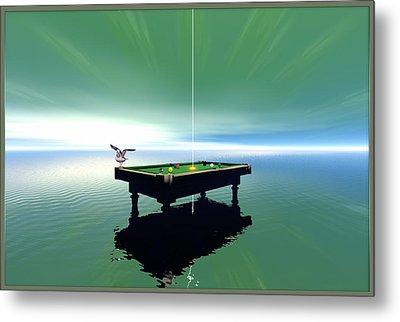 Billiard Table Metal Print by Harald Dastis