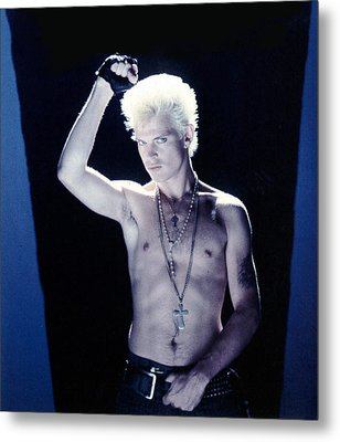 Billy Idol - Close Up & Personal Metal Print by Epic Rights