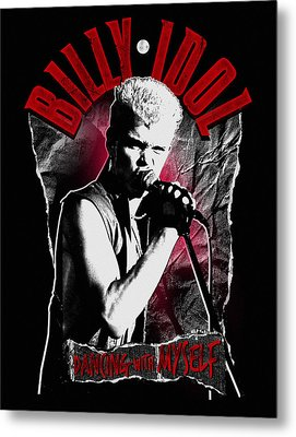 Billy Idol - Dancing With Myself Metal Print by Epic Rights