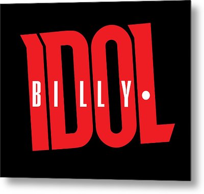 Billy Idol - Logo Metal Print by Epic Rights