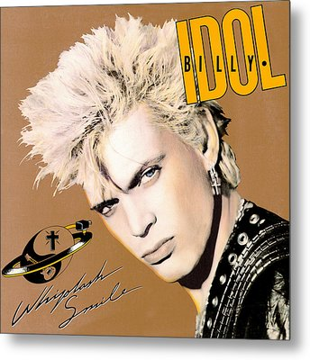 Billy Idol - Whiplash Smile 1986 Metal Print by Epic Rights