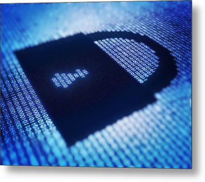 Electronic Data Security Metal Print by Johan Swanepoel