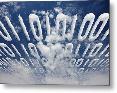Electronic Information Data Transfer Metal Print by Johan Swanepoel