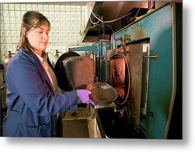 Biochar Production Research Metal Print by Stephen Ausmus/us Department Of Agriculture