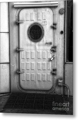 Biosphere2 - Door Metal Print by Gregory Dyer