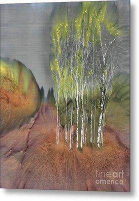 Birch Grove 1 Metal Print by Carolyn Doe