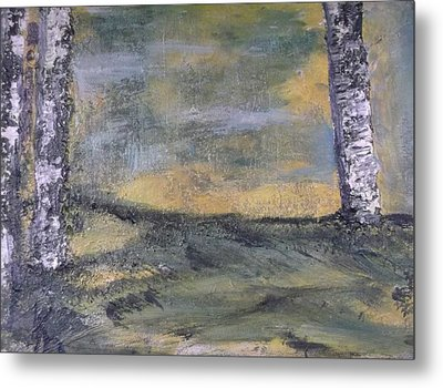 Birch Landscape Metal Print by Karen Lillard