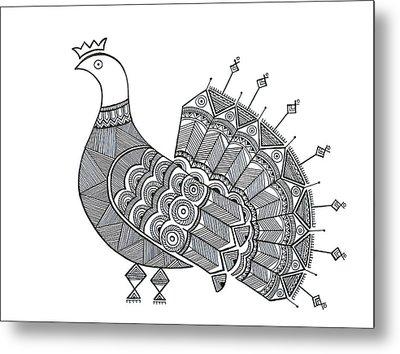 Bird Dove Metal Print by Neeti Goswami