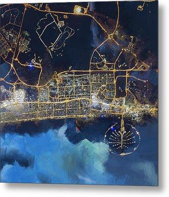 Bird Eye View - Dubai B Metal Print by Corporate Art Task Force