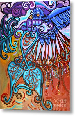 Bird Heart Iv Metal Print by Genevieve Esson