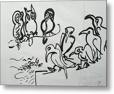 Bird Talk Metal Print by Godfrey McDonnell