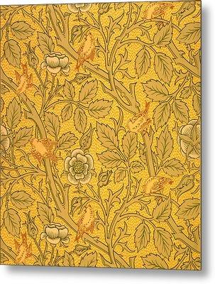 Bird Wallpaper Design Metal Print by William Morris
