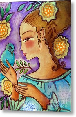 Birdie Metal Print by Elaine Jackson