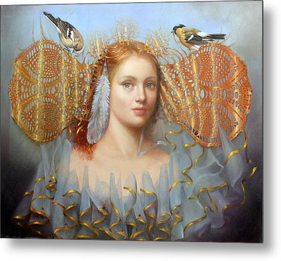 Birds Of A Feather Metal Print by Loretta Fasan