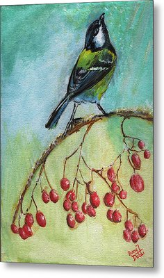 Birds Of A Feather Series4 Metal Print by Remy Francis