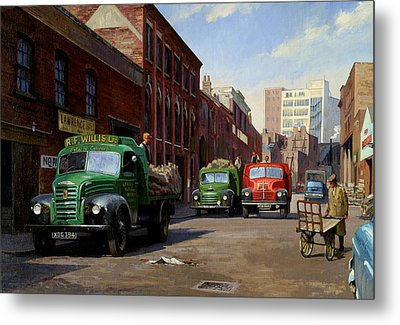 Birmingham Fruit And Veg Market. Metal Print by Mike  Jeffries