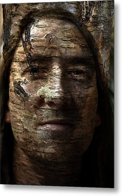 Birtch Green Man Metal Print by Christopher Gaston