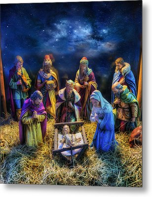 Birth Of Jesus Metal Print by Ian Mitchell
