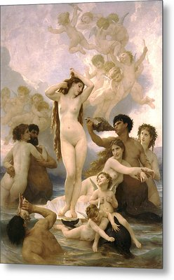 Birth Of Venus Metal Print by William Bouguereau