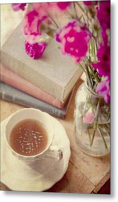 Birthday Tea Time Metal Print by Toni Hopper